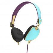 Skullcandy Navigator Knockout - дизайнерски слушалки с микрофон и контрол на звука за мобилни устройства (син)