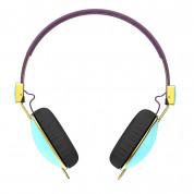 Skullcandy Navigator Knockout - дизайнерски слушалки с микрофон и контрол на звука за мобилни устройства (син) 2