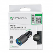 4smarts Qualcomm 3.0 Quick Car Charger 6A (grey) 4