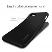 Spigen Liquid Air Case - силиконов (TPU) калъф с висока степен на защита за iPhone SE (2020), iPhone 8, iPhone 7 (черен) 7