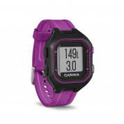 Garmin Forerunner 25 Easy-to-use GPS Running Watch with Smart Notifications (black-purple)