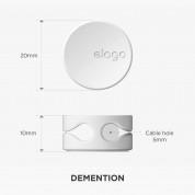 Elago Cable Management Button - 7 броя стилни органайзери за кабели (бял) 7