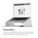 Elago L4 Stand - ергономична дизайнерска поставка за MacBook, преносими компютри и таблети (сребрист) 3