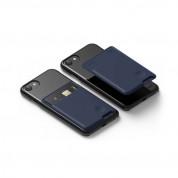 Elago Card Pocket - поставка тип джоб за документи и карти, прикрепяща се към всяко мобилно устройство (тъмносин)