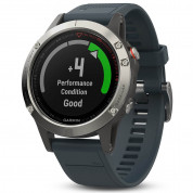 Garmin Fenix 5 - Multisport GPS Watch for Fitness, Adventure and Style (silver with granite blue band) 1