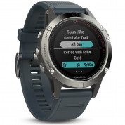 Garmin Fenix 5 - Multisport GPS Watch for Fitness, Adventure and Style (silver with granite blue band) 5
