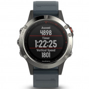 Garmin Fenix 5 - Multisport GPS Watch for Fitness, Adventure and Style (silver with granite blue band) 2