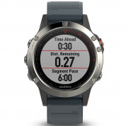Garmin Fenix 5 - Multisport GPS Watch for Fitness, Adventure and Style (silver with granite blue band) 4