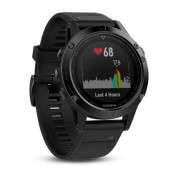 Garmin Fenix 5 Sapphire - Multisport GPS Watch for Fitness, Adventure and Style (black sapphire with black band and Performer Bundle) 1