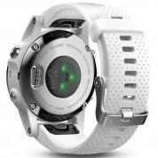 Garmin Fenix 5S - Мултиспорт GPS спортен часовник (сребрист с бяла каишка) 4