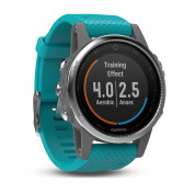 Garmin Fenix 5S - Multisport GPS Watch for Fitness, Adventure and Style (white with turquoise band)