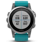 Garmin Fenix 5S - Multisport GPS Watch for Fitness, Adventure and Style (white with turquoise band) 3
