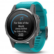 Garmin Fenix 5S - Multisport GPS Watch for Fitness, Adventure and Style (white with turquoise band) 2