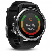 Garmin Fenix 5S - Multisport GPS Watch for Fitness, Adventure and Style (white with black band) 2