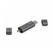 LMP USB-C, USB-A & microUSB Memory Card Reader - четец за карти памет за мобилни устройства (тъмносив) 6