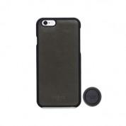 Knomo Moulded Mag Leather Case - кожен кейс (естествена кожа) с магнитна поставка за iPhone 6S, iPhone 6 (тъмносив)
