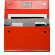 Knomo Soho Knomad Portable Organiser - луксозен кожен калъф (естествена кожа) и органайзер за таблети до 10 инча (червен) 5