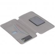 Krusell Orsa Folio Case 4XL - универсален кожен калъф със слот за кр. карти за смартфони до 5.5 инча (сребрист) 4