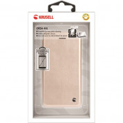 Krusell Orsa Folio Case 4XL - универсален кожен калъф със слот за кр. карти за смартфони до 5.5 инча (златист) 5