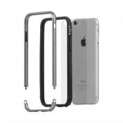 Moshi Luxe Bumper Case - метален бъмпер и покритие за задната част за iPhone 6, iPhone 6S (тъмносив) 1