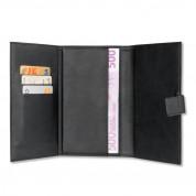 4smarts Ultimag Wallstreet Card Book - универсален кожен калъф с магнитно захващане за смартфони до 5.8 инча (черен) 4