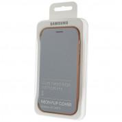 Samsung Neon Flip Cover EF-FA520PLEGWW- оригинален кожен кейс със светещи ръбове за Samsung Galaxy A5 (2017) (син) 2