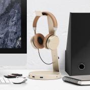 Satechi Aluminium Headphone Stand - дизайнерска алуминиева поставка за слушалки с USB изходи (златист) 4