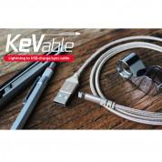 Torrii KeVable Lightning to USB (1 meter) - изключително здрав кевларен Lightning кабел за iPhone, iPad, iPod с Lightning (1 метър) (розово злато) 2