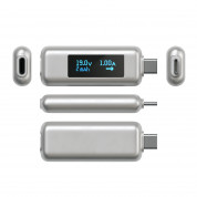 Satechi USB-C Power Meter - уред измерване на ампеража, волтаж и амперчасове за USB-C устройства 2