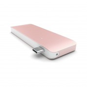 Satechi USB-C Pass Through USB Hub - мултифункционален хъб за свързване на допълнителна периферия за компютри с USB-C (розово злато) 2
