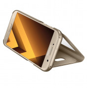 Samsung S-View Flip Case EF-CA520PFEGWW - оригинален кожен калъф за Samsung Galaxy A5 (2017) (златист) 2