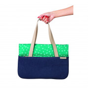STM Grace Deluxe Laptop Sleeve - teal dot 3