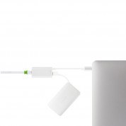 Moshi USB-C to Gigabit Ethernet Adapter - Ethernet адаптер за MacBook и компютри с USB-C (сребрист) 2