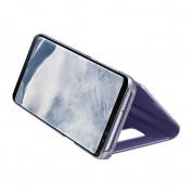 Samsung Clear View Stand Cover EF-ZG955CVEGWW - оригинален кейс с поставка, през който виждате информация от дисплея за Samsung Galaxy S8 Plus (виолетов) 4