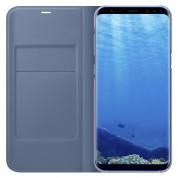 Samsung LED View Cover EF-NG955PLEGWW - оригинален кожен калъф през който виждате информация от дисплея за Samsung Galaxy S8 Plus (син) 3