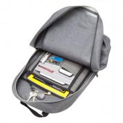Knomo Harpsden Laptop Backpack - луксозна раница за преносими компютри до 14 инча (сив) 6