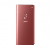 Samsung Clear View Stand Cover EF-ZG955CPEGWW - оригинален кейс с поставка, през който виждате информация от дисплея за Samsung Galaxy S8 Plus (розов) 1
