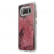 CaseMate Waterfall Case - дизайнерски кейс с висока защита за Samsung Galaxy S8 (розово злато) 2