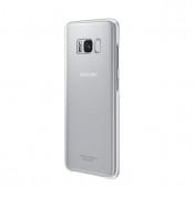 Samsung Clear Cover Case EF-QG950CSEGWW - оригинален TPU кейс за Samsung Galaxy S8 (прозрачен-сребрист)