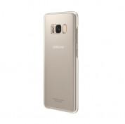 Samsung Clear Cover Case EF-QG950CFEGWW - оригинален TPU кейс за Samsung Galaxy S8 (прозрачен-златист)