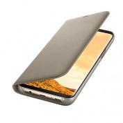 Samsung LED View Cover EF-NG955PFEGWW - оригинален кожен калъф през който виждате информация от дисплея за Samsung Galaxy S8 Plus (златист)