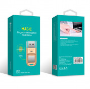 Devia Magic Fingerprint Encryption USB Flash Drive 32GB - USB флаш памет с пръстов отпечатък 32GB (златист) 4