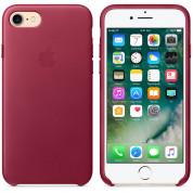 Apple iPhone Leather Case - оригинален кожен кейс (естествена кожа) за iPhone 8, iPhone 7 (светлочервен) 2