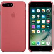 Apple Silicone Case - оригинален силиконов кейс за iPhone 8 Plus, iPhone 7 Plus (светлочервен) 3