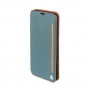 4smarts Flip Case Two Tone - кожен калъф с поставка и отделение за кр. карта за Samsung Galaxy A3 (2017) (син)