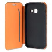 4smarts Flip Case Two Tone - кожен калъф с поставка и отделение за кр. карта за Samsung Galaxy A5 (2017) (син) 4