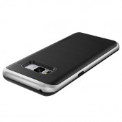 Verus High Pro Shield Case - висок клас хибриден удароустойчив кейс за Samsung Galaxy S8 (черен-сребрист) 2