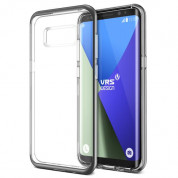 Verus Crystal Bumper Case - хибриден удароустойчив кейс за Samsung Galaxy S8 Plus (сив-прозрачен)