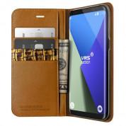 Verus Genuine Leather Diary Case - кожен калъф (естествена кожа), тип портфейл за Samsung Galaxy S8 Plus (кафяв) 1