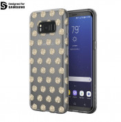 Incipio Classic Case Design Series - дизайнерски удароустойчив TPU кейс за Samsung Galaxy S8 Plus (прозрачен-златист)